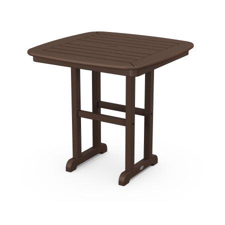 "Nautical 31"" Dining Table in Mahogany"