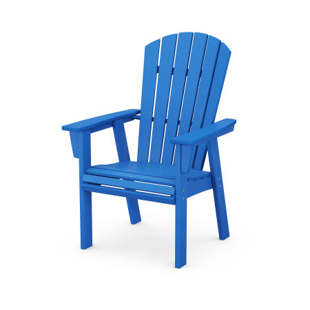 Nautical Adirondack Dining Chair in Pacific Blue