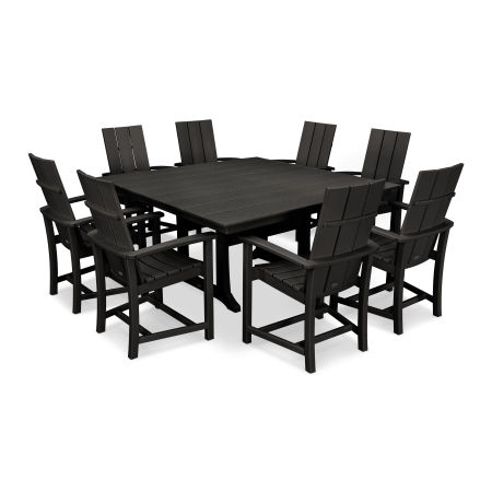 Adirondack 9-Piece Farmhouse Dining Set in Black