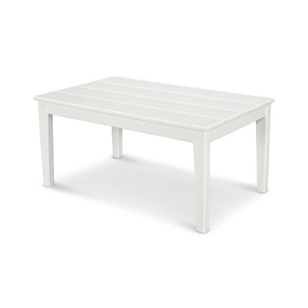 "Newport 22"" x 36"" Coffee Table in White"