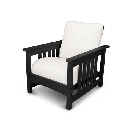 Mission Chair in Black / Bird's Eye
