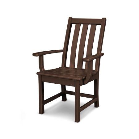 Vineyard Dining Arm Chair in Mahogany