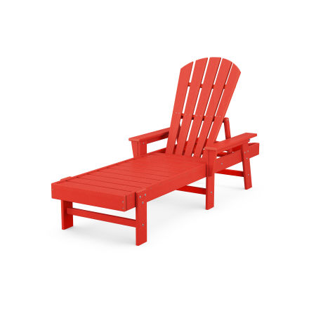 South Beach Chaise in Sunset Red