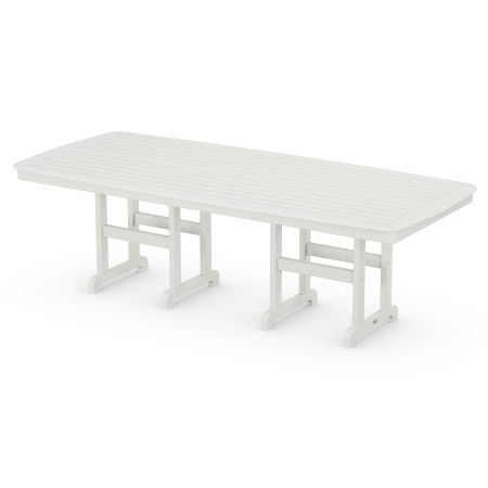 """Nautical 44"""" x 96"""" Dining Table in Vintage White"""
