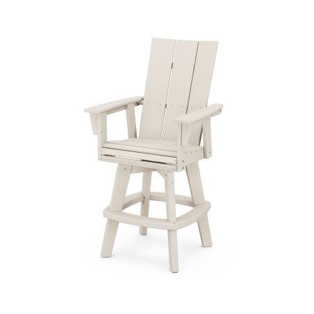 Modern Adirondack Swivel Bar Chair in Sand
