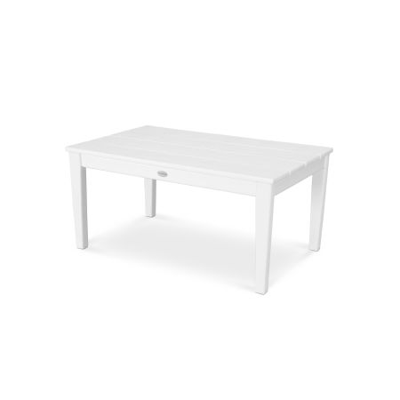 "Newport 22"" x 36"" Coffee Table in Vintage White"