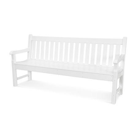"""Rockford 72"""" Bench in White"""