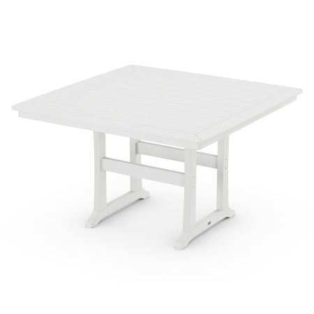 "Nautical Trestle 59"" Counter Table in White"