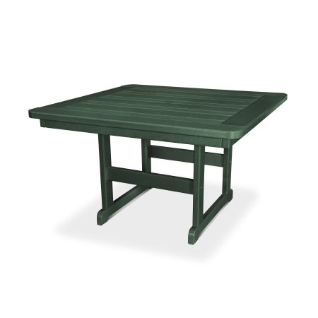 """Park 48"""" Square Table in Green"""