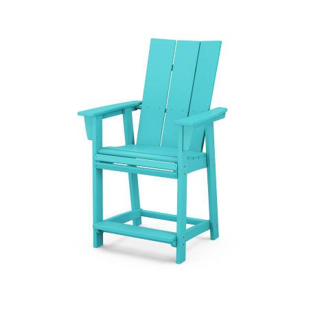 Modern Adirondack Counter Chair in Aruba