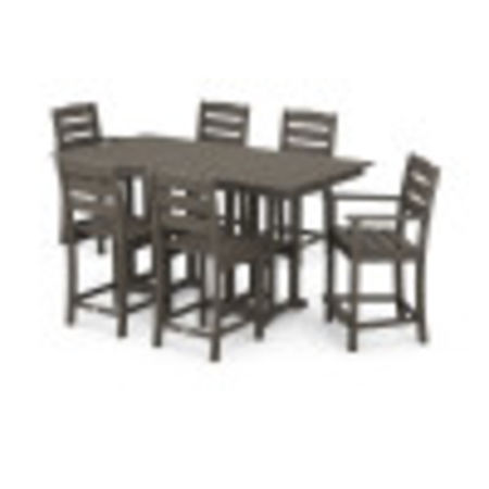 Lakeside 7-Piece Counter Set in Vintage Coffee