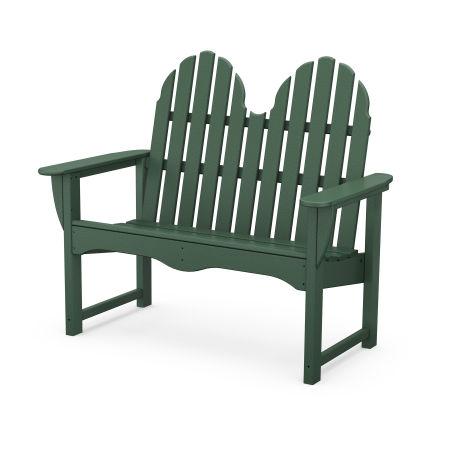 "Classic Adirondack 48"" Bench in Green"