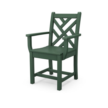 Chippendale Dining Arm Chair in Green
