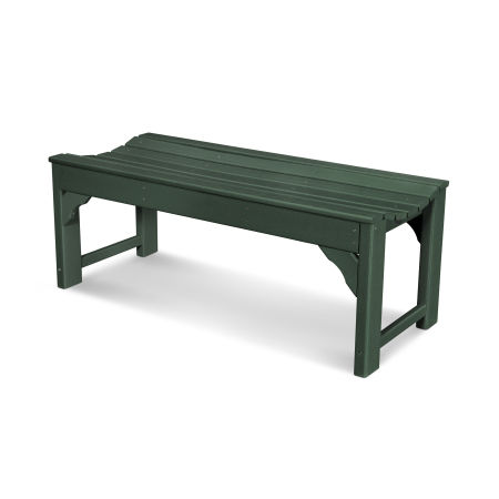 "Traditional Garden 48"" Backless Bench in Green"