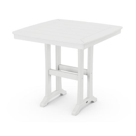 """Nautical Trestle 37"""" Counter Table in White"""