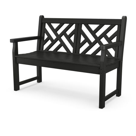 "Chippendale 48"" Bench in Black"