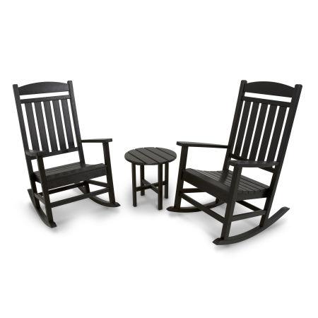 Classics 3-Piece Rocker Seating Set in Black
