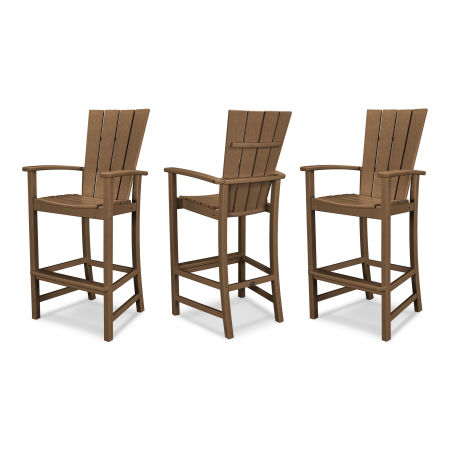 Quattro 3-Piece Bar Set in Teak