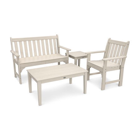 Vineyard 4-Piece Bench Seating Set in Sand