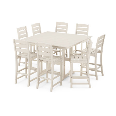 Lakeside 9-Piece Bar Side Chair Set in Sand