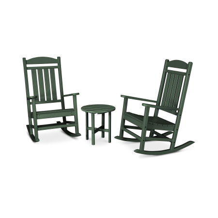 Presidential 3-Piece Rocking Chair Set in Green
