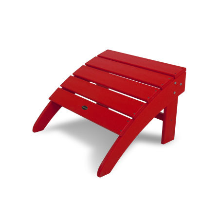 South Beach Adirondack Ottoman in Sunset Red