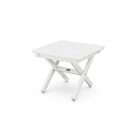 """18"""" Side Table in White"""