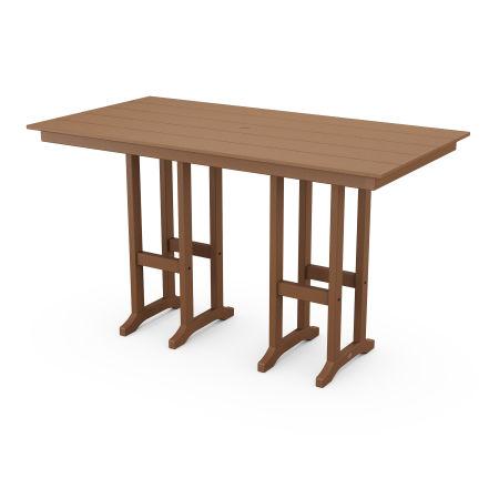 """Farmhouse 37"""" x 72"""" Bar Table in Teak"""