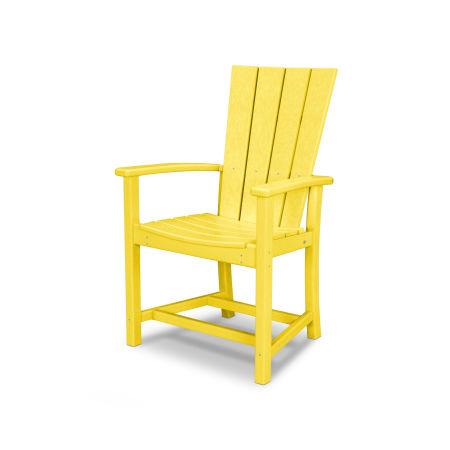 Quattro Adirondack Dining Chair in Lemon