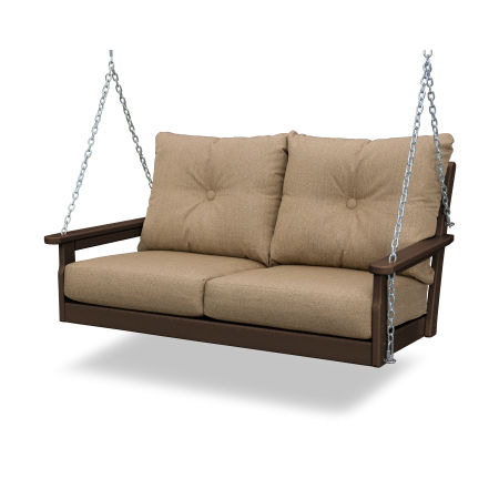 Vineyard Deep Seating Swing in Mahogany / Sesame