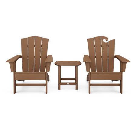 Wave Collection 3-Piece Set in Teak