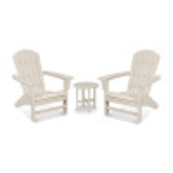 Yacht Club 3-Piece Adirondack Set