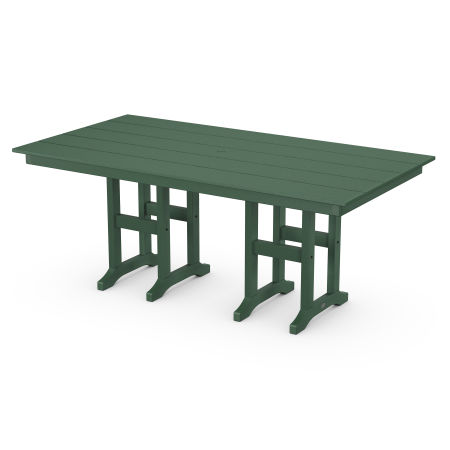 """Lakeside 37"""" x 72"""" Farmhouse Dining Table in Green"""