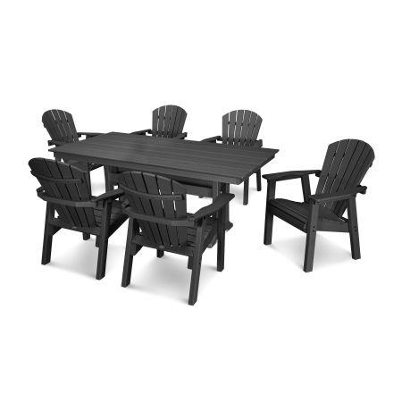 7 Piece Seashell Dining Set in Black