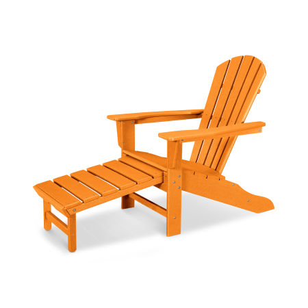 Palm Coast Ultimate Adirondack with Hideaway Ottoman in Vintage Tangerine