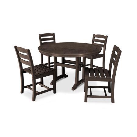 La Casa Café 5 Piece Side Chair Dining Set in Mahogany