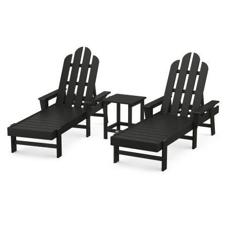Long Island Chaise 3-Piece Set in Black