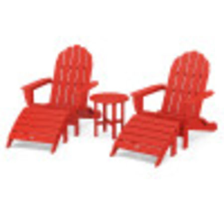 Classic Oversized Adirondack 5-Piece Casual Set in Sunset Red