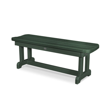 """Park 48"""" Backless Bench in Green"""