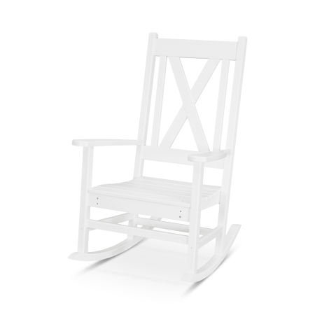 Braxton Porch Rocking Chair in White