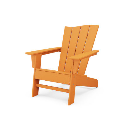 The Wave Chair Right in Tangerine