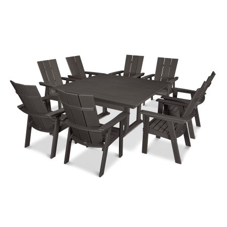 Modern Adirondack 9-Piece Farmhouse Dining Set in Vintage Finish