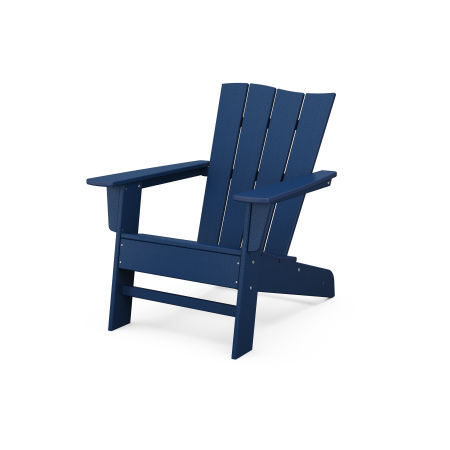 The Wave Chair Left in Navy