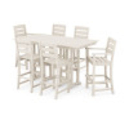 Lakeside 7-Piece Bar Set in Sand
