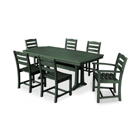 La Casa Café 7 Piece Dining Set in Green