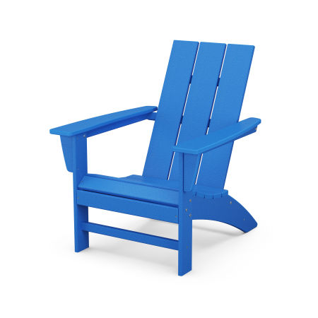 Modern Adirondack Chair in Pacific Blue