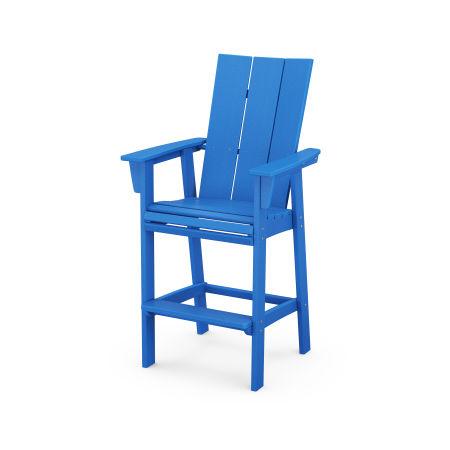 Modern Adirondack Bar Chair in Pacific Blue