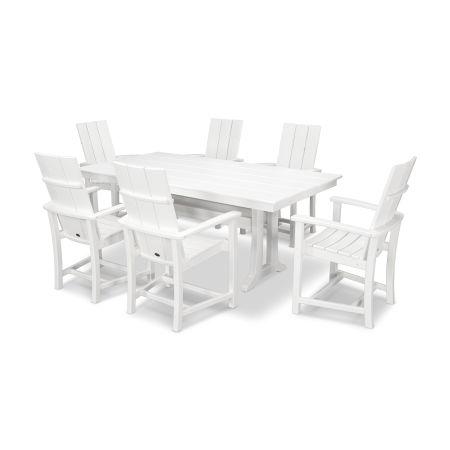 Adirondack 7-Piece Farmhouse Dining Set in White