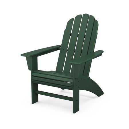 Vineyard Curveback Adirondack Chair in Green