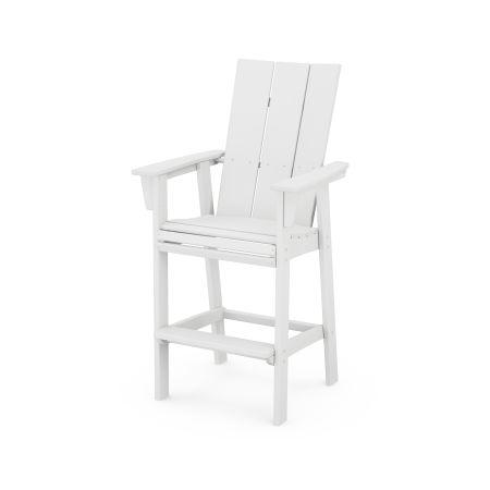 Modern Adirondack Bar Chair in White
